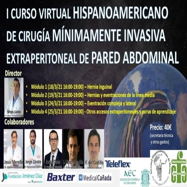 I Curso Virtual Hispanoamericano de Cirugía Mínimamente Invasiva de Pared Abdominal